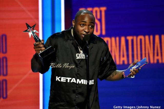Nigerian Artiste, Davido Wins BET Awards 2018 Best International Act